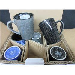 6 New Mikasa Stoneware Mugs