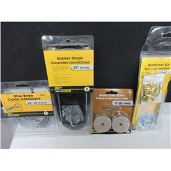 Bundle of Hardware / Bungees / Grommet Kit / 1/8 Wire Cable / Slide Glides
