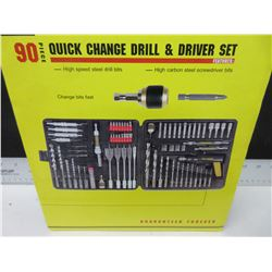 New 90 piece Quick Change Drill & Driver set