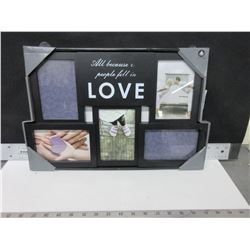 Picture Frame with 5 windows 4 x 6