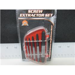 New 5 piece Screw Extractor Set with case