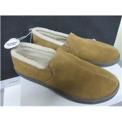 New Mossimo Genuine Suede Men's Slippers non marking sole size 11