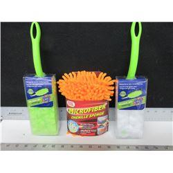 New Spic & Span 360 deg Dusters & Microfiber Shenille Sponge