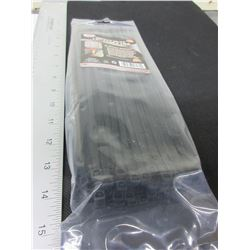 """New 12"""" Heavy Duty Cable/Zipties / black 100 pieces"""