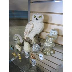 COLLECTION OF OWL FIGURES