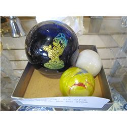 MICKEY MOUSE FANTASIA PAPER WEIGHT MARBLE, AND EGG STONE