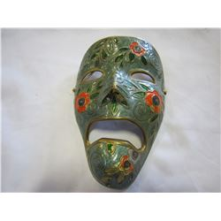 SOLID BRASS HAND PAINTED DECOR MASK MADE IN INDIA