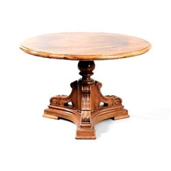Early 20thc Walnut Pedestal Table