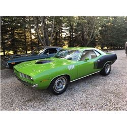 3:00PM SATURDAY FEATURE 1971 PLYMOUTH BARRACUDA 383 SHAKER ROTISSERIE RESTORATION