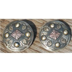 2 inch conchos marked Clint's