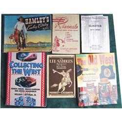 saddle catalogs:  1950 Hamley, 1931 Ricardo, 1934 Lee Saddlery