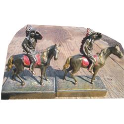 1940's bronze Indian Bookends