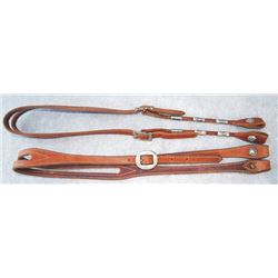 2 CEI silver mounted headstalls
