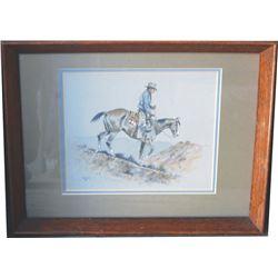 framed Paul Sollosy litho