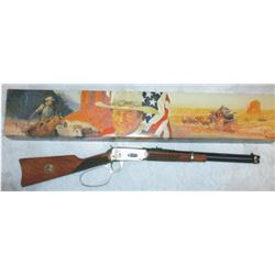 Winchester model 1984 John Wayne commemorative SRC 32.40, #JW28291, in orig box, engraved w/stagecoa