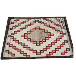 early Navajo rug 55 x 82