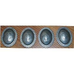 4 Navajo silver conchos
