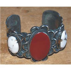 signed Indian made silver bracelet