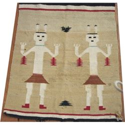 Yei pattern Navajo blanket 28 x 32