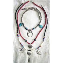 3 strands of Navajo jewelry