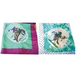2 Pendleton silk scarves