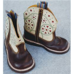 toddler inlaid boots, 1940's-50's