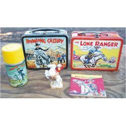 Hoppy & Lone Ranger 1950's lunch boxes