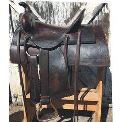 RT Frazier high back square skirt saddle