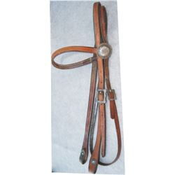 Champion silver brow band headstall