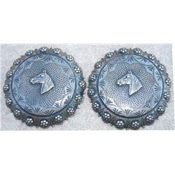 "2 1/2"" silver horse head conchos"
