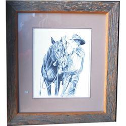 barnwood framed M Miller print