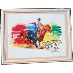 2007 framed Pendleton Roundup annual poster