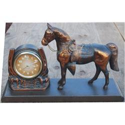 bronze horse clock