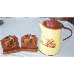 enamel cowboy coffee pot