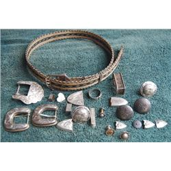 early hair hat band and lots of silver pieces