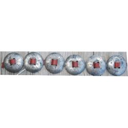 """silver slotted 1 3/4"""" conchos"""