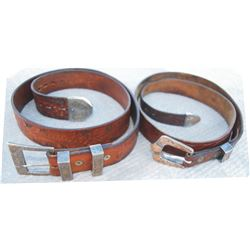 two tooled belts