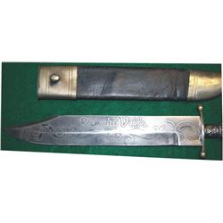Poncho Villa etched blade knife, dated 1915