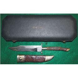Col Wm F Cody knife in case, IXL Sheffield, England