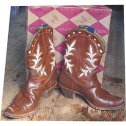 1940-50's Acme inlaid boots