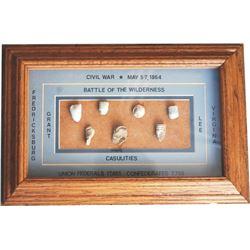 Civil War bullet display