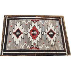 "Navajo blanket 38"" x 57"", shows both lazy lines"