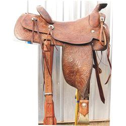 Chuck Irwin's Visalia saddle, full tooled in good condition