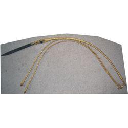 Ortega finely braided rommel reins