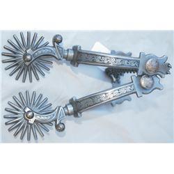 Ernie Marsh great gun metal engraved spurs