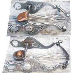 fleming silver overlaid filigree bit