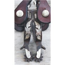 Randy Butters silver overlaid spurs