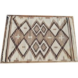 """Navajo rug 56"""" x 37"""" with lazy lines"""