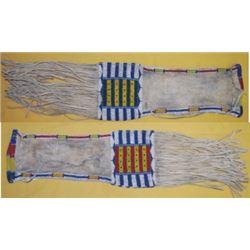 Plains Indian beaded buffalo hide pipe bag
