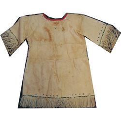 cute Comanche brain tanned girl's beaded dress